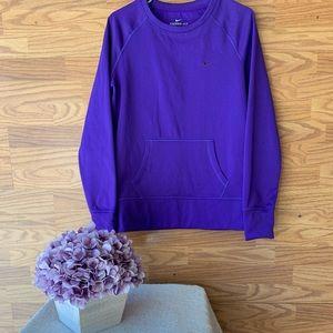 Nike Pullover Sweatshirt Thumb Holes Purple